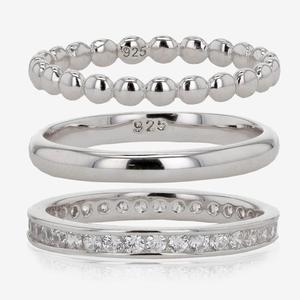 Sterling Silver Set of 3 Stacking Rings