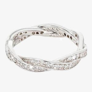 Sterling Silver Braided DiamonFlash<sup>&reg;</sup> Ring