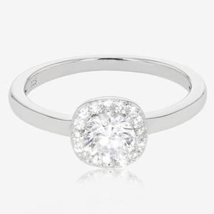Ladies Sterling Silver DiamonFlash® Cluster Ring
