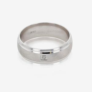 Men's Sterling Silver Heavyweight Diamond Band Ring