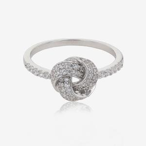 Sterling Silver DiamonFlash® Cubic Zirconia Knot Ring