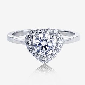 Naomi Sterling Silver DiamonFlash® Cubic Zirconia Ring