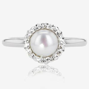 Arabella Sterling Silver Cultured Freshwater Pearl Ring