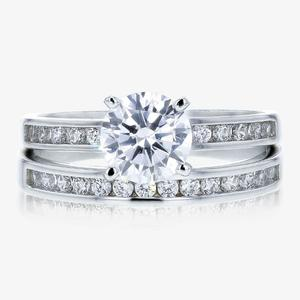 Sterling Silver DiamonFlash<sup>&reg;</sup> Cubic Zirconia Duet 2 Ring Set