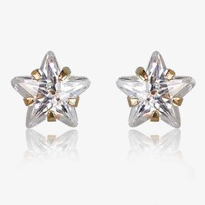 Laura 9ct Gold DiamonFlash<sup>®</sup> Cubic Zirconia Star Earrings