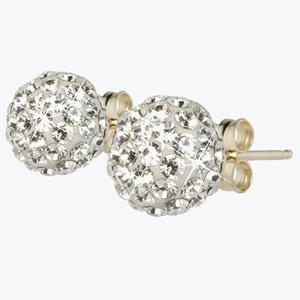 Jemma 9ct Gold Crystal Ball Stud Earrings