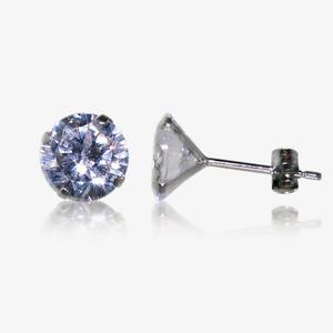 9ct White Gold DiamonFlash<sup>&reg;</sup> Cubic Zirconia Stud Earrings