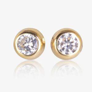 9ct Gold DiamonFlash<sup>&reg;</sup> Cubic Zirconia 4mm Earrings