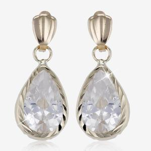 9ct Gold DiamonFlash<sup>®</sup> Cubic Zirconia Drop Earring