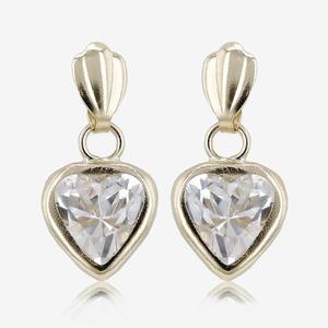 9ct Gold DiamonFlash® Heart Earrings