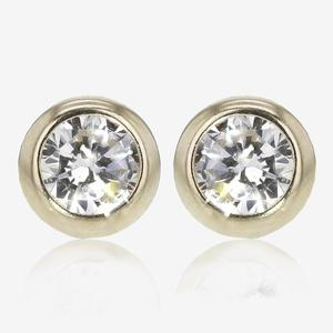 9ct Gold DiamonFlash<sup>&reg;</sup> Cubic Zirconia 6mm Earrings