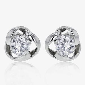 9ct White Gold DiamonFlash® Knot Stud Earrings