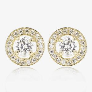 9ct Gold DiamonFlash® Cubic Zirconia Halo Earrings