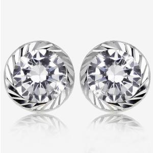 9ct White Gold DiamonFlash® Cubic Zirconia Stud Earrings