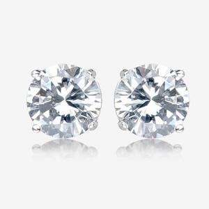 Anna Sterling Silver DiamonFlash<sup>®</sup> Cubic Zirconia Stud Earrings