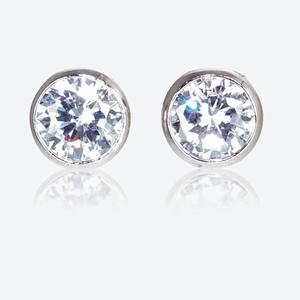877207f33 SAVE 55% The Roweena Sterling Silver DiamonFlash<sup>®</sup> Cubic Zirconia  Stud