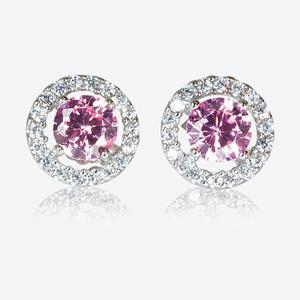 The Irina Sterling Silver DiamonFlash<sup>&reg;</sup> Cubic Zirconia Stud Earrings