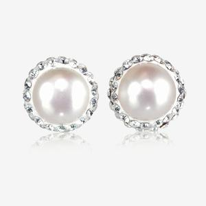 Arabella Real Sterling Silver Cultured Freshwater Pearl Earrings