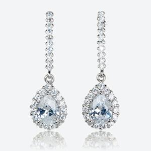 The Barbarella Sterling Silver DiamonFlash<sup>&reg;</sup> Cubic Zirconia Earrings