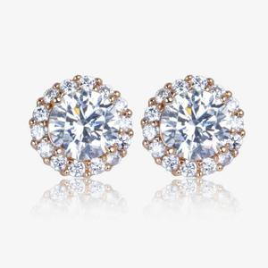 The Diana Sterling Silver DiamonFlash<sup>&reg;</sup> Cubic Zirconia Stud Earrings.