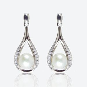 The Suzette Sterling Silver Cultured Freshwater Pearl Earrings