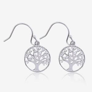 Sterling Silver Life's Tree Earrings