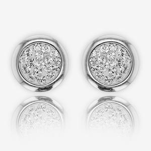 Stephanie Royal Silver Earrings Made With Swarovski® Crystals