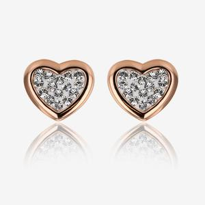 Tania Sterling Silver Heart Earrings Made With Swarovski® Crystals