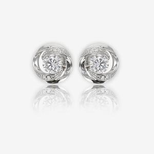 Sterling Silver DiamonFlash® Cubic Zirconia Stud Earrings