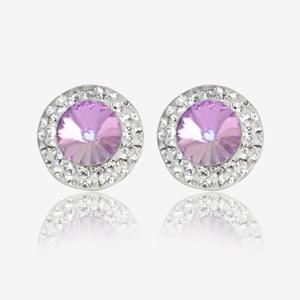 Angelina Sterling Silver Stud Earrings Made With Swarovski® Crystals