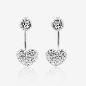 Estrella Sterling Silver Jacket Earrings Made With Swarovski® Crystals