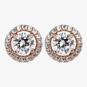 The Amelia Sterling Silver DiamonFlash<sup>®</sup> Cubic Zirconia Earrings