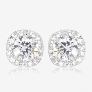 Silver DiamonFlash® Cluster Stud Earrings