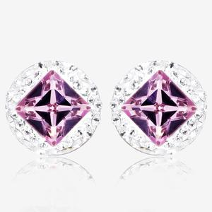 Sterling Silver Earrings With Swarovski® Crystals