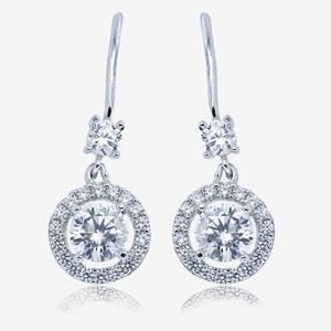 Amelia Sterling Silver DiamonFlash<sup>&reg;</sup> Cubic Zirconia Earrings