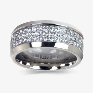 Men's Titanium DiamonFlash<sup>®</sup> Cubic Zirconia Ring