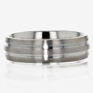 Simple Men's Titanium Band Ring
