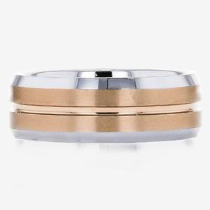 Men's 2 Colour Tungsten Band Ring