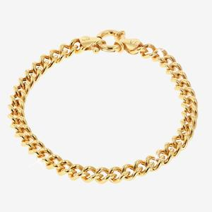 18ct Gold Vermeil on Silver Ladies Curb Bracelet
