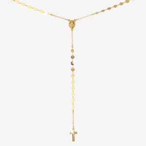 18ct Gold Vermeil on Silver Rosary Necklace