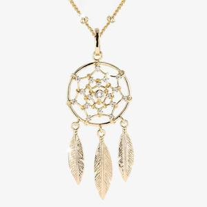 18ct Gold Vermeil on Silver Dreamcatcher Necklace