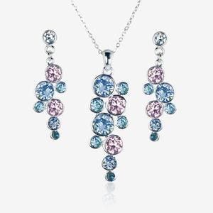 Stephania Necklace & Earrings Set Made With Swarovski<sup>&reg;</sup> Crystals