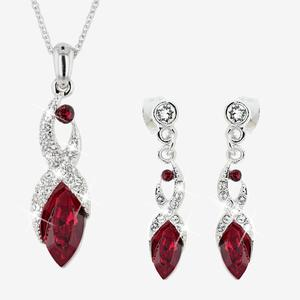 Biarritz Deep Red Collection Made With Swarovski<sup>®</sup> Crystals
