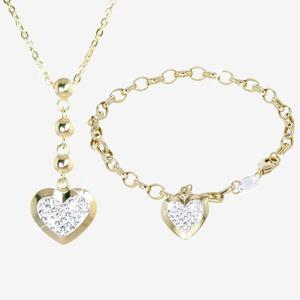 The Trieste 9ct Gold & Silver Bonded Collection Made With Swarovski® Crystals