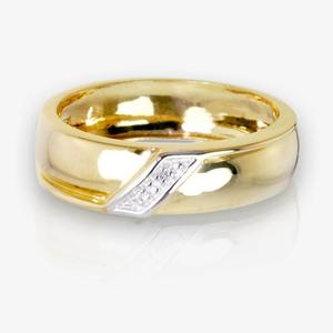 9ct Gold & Diamond Men's Wedding Ring 5.5mm