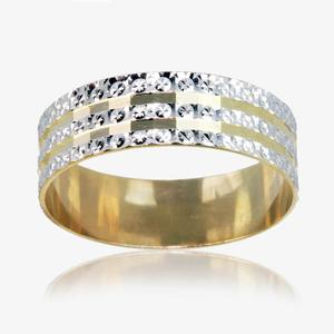 9ct Gold, 2 Colour Ladies Wedding Ring 6mm