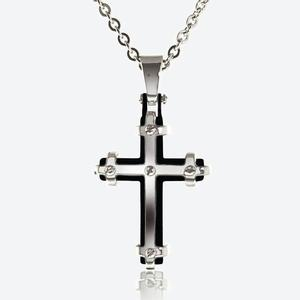 Men's Steel Cross With Chain